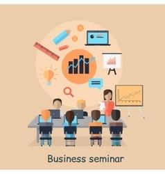 Business seminar succefull motivational managment vector