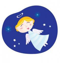 Christmas angel boy vector image