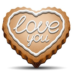 Cookie for Valentines Day vector image vector image
