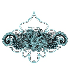 floral ornament card vector image