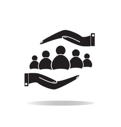 group of people and hands icon group of people vector image vector image