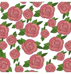 Pink roses background vector