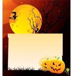 pumpkin back vector image vector image