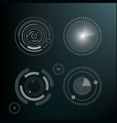technological hud elements futuristic interface vector image