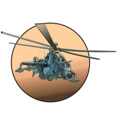 cartoon military helicopter vector image vector image
