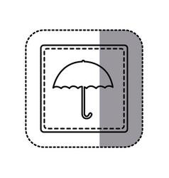 figure emblem umbrella icon vector image