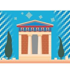greek ancient treasury vector image vector image