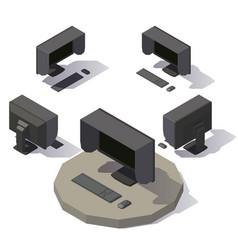 monitor shading hood vector image