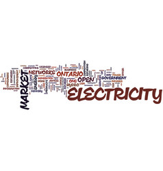 the open electricity market how it affects you vector image vector image