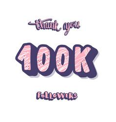 100k followers post template design vector