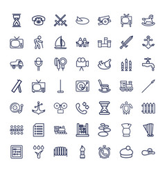 49 old icons vector