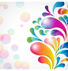 Abstract background with bright teardrop-shaped vector image