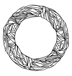 abstract hand drawn circle vector image