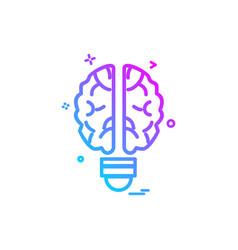 artificial brain intelligence icon design vector image