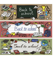 Back to school doodle set vector