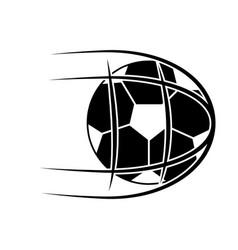 ball shooting into net football soccer icon image vector image