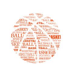 basketball text symbol vector image