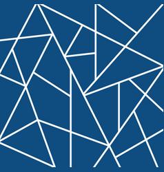 Blue polygon creative pattern mosaic trendy print vector