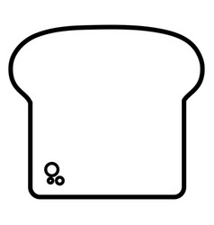 Bread slice design vector