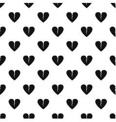 broken heart pattern seamless vector image