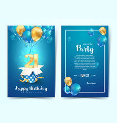 Celebration 21 th years birthday vector