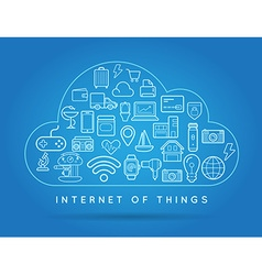 Cloud iot internet things smart home quality vector