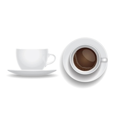 Coffee cup isolated Top and side view espresso vector
