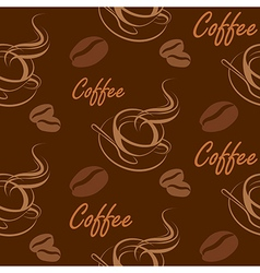 coffee seamless2 vector image