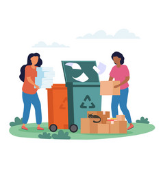 Concept paper waste recycling vector