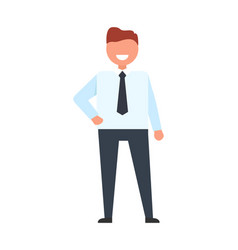 confident faceless businessman in white t-shirt vector image