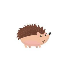 Cute hedgehog woodland cartoon animal vector