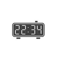 Digital alarm clock icon vector
