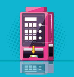 Dispenser of beverage machine electronic vector