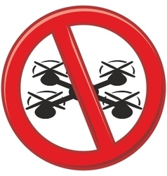 Drones are prohibited vector image