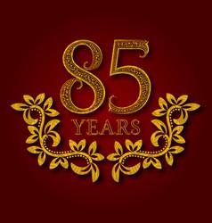 Eighty five years anniversary celebration vector