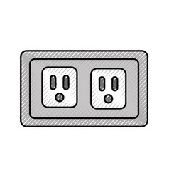 Energy socket isolated icon vector