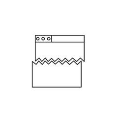 error web page icon vector image
