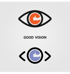 Eye Icon Good Eye Icon Art Eye Icon Web vector