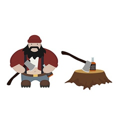 Fat lumberjack No outlines vector image