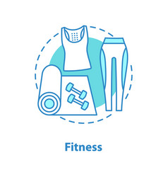Fitness concept icon vector