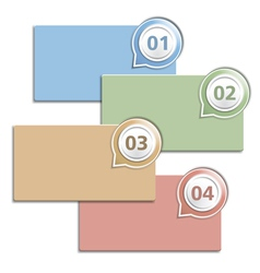 Four Banners with Numbers vector image vector image
