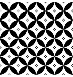 Geometric seamless pattern in black and white - in vector
