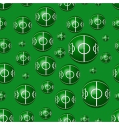 Geometric seamless pattern to world football day vector image