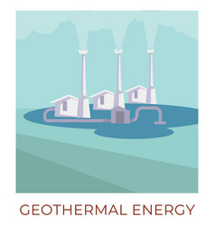 geothermal energy using water to generate power vector image