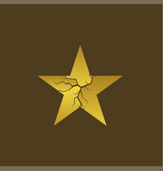Golden broken star vector