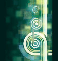 green tech abstract background vector image