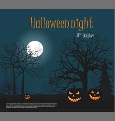 halloween three scary halloween pumpkin vector image