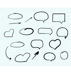 Hand-drawn doodle scribble web design elements vector