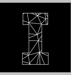 i geometric triangle block chain font vector image