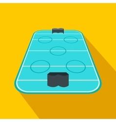 Ice hockey rink flat icon vector image